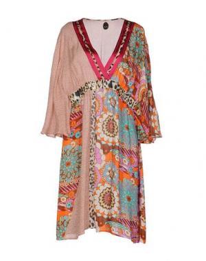Платье до колена NOLITA. Цвет: розовый