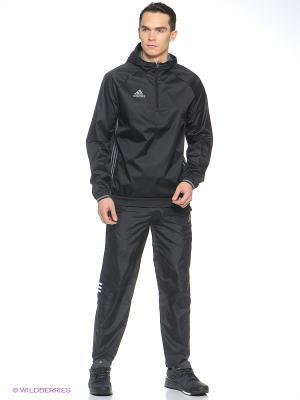 Ветровка Con16 Windb Adidas. Цвет: черный
