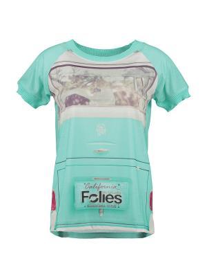 Футболка Blugirl Folies. Цвет: бирюзовый