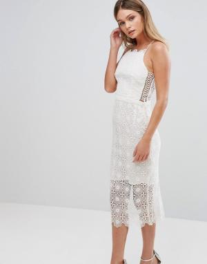 Bec & Bridge Платье миди. Цвет: белый