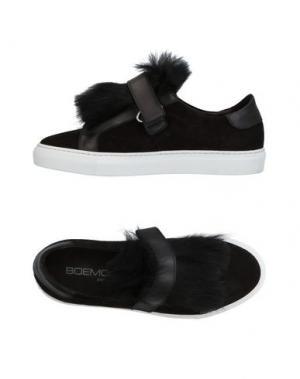 Низкие кеды и кроссовки BOEMOS. Цвет: черный