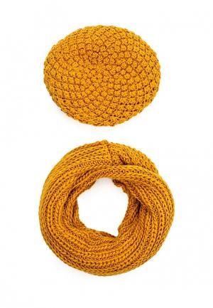Комплект шапка и шарф Avanta. Цвет: желтый