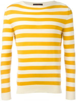Полосатый трикотажный свитер The Gigi. Цвет: жёлтый и оранжевый