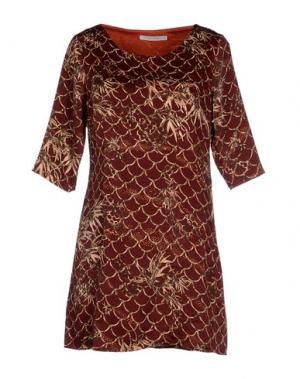 Короткое платье ANONYME DESIGNERS. Цвет: кирпично-красный