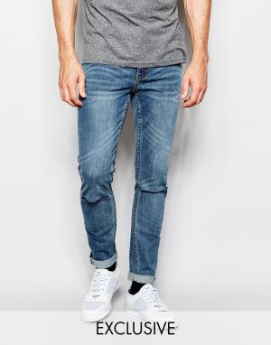Cheap Monday Темные джинсы скинни с рваной отделкой. Цвет: синий
