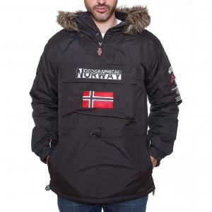Парка с капюшоном Building GEOGRAPHICAL NORWAY. Цвет: черный
