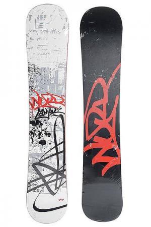 Сноуборд  Word Mac Cam Sidewall 158 Black/White/Red Lamar. Цвет: черный,белый,красный