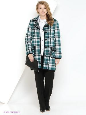 Пальто Milana Style. Цвет: зеленый