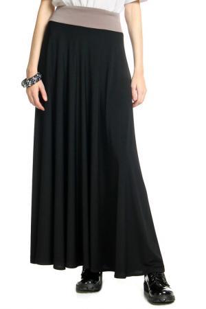 Юбка-макси контрастный пояс Alina Assi. Цвет: черный, бежевый пояс