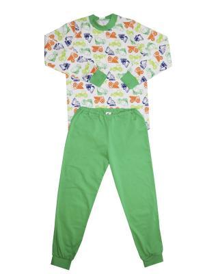Пижама Купалинка. Цвет: белый, зеленый