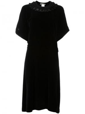 Асимметричное платье Veronique Branquinho. Цвет: чёрный