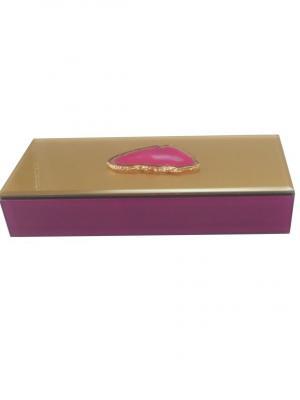 Шкатулка Розовый агат (24,5x9,5x4,5см, из стекла для мелочей) Magic Home. Цвет: розовый,золотистый