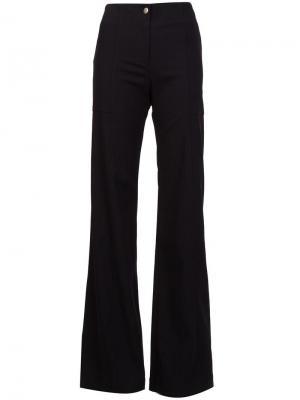 Широкие брюки Veronica Beard. Цвет: чёрный