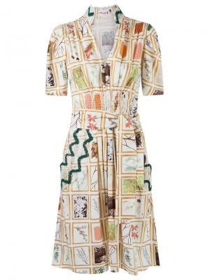 Print belted dress Isabela Capeto. Цвет: телесный