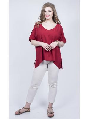 Блузка SPARADA. Цвет: бордовый