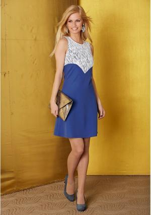 Платье Y.O.U.. Цвет: синий/белый