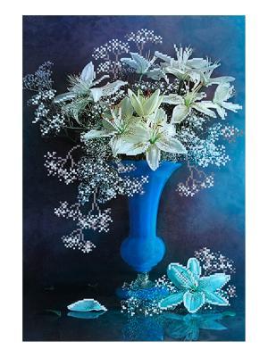 Рисунок на шелке Пленительный аромат Матренин Посад. Цвет: синий, белый