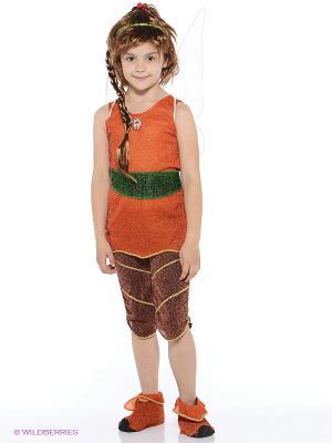 Карнавальный костюм Фея Фауна Батик. Цвет: коричневый