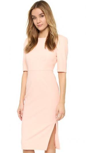 Идеально скроенное платье с драпировкой ST Olcay Gulsen. Цвет: peachie