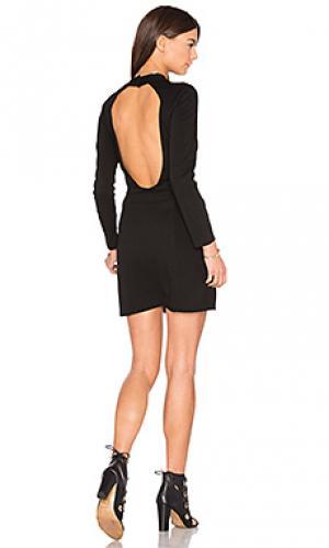 Платье с открытой спиной BLQ BASIQ. Цвет: черный