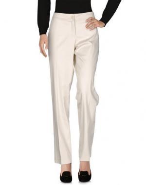 Повседневные брюки MARTA PALMIERI. Цвет: слоновая кость