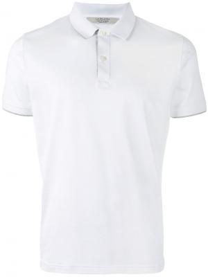 Классическая рубашка-поло La Fileria For Daniello D'aniello. Цвет: белый