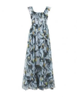 Длинное платье VALENTINO. Цвет: небесно-голубой