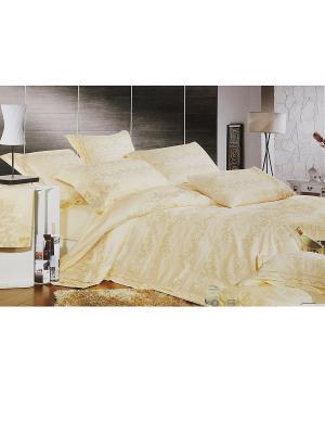 Комплект постельного белья с вышивкой HAMRAN. Цвет: бежевый