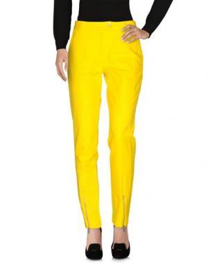 Повседневные брюки LORENA ANTONIAZZI. Цвет: желтый
