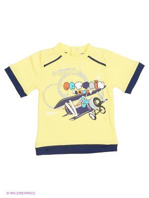 Футболка Mini Midi. Цвет: желтый