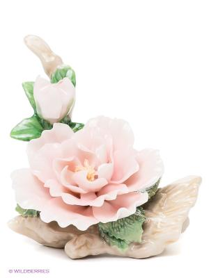 Композиция Чайная Роза Pavone. Цвет: зеленый, бежевый, бледно-розовый