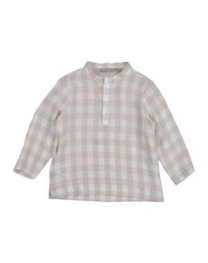 Pубашка LA STUPENDERIA. Цвет: бежевый