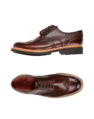 Обувь на шнурках GRENSON. Цвет: коричневый