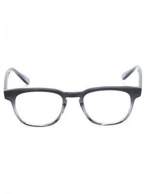 Оптические очки с градиентной оправой Masunaga. Цвет: чёрный