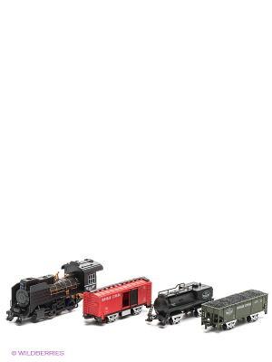 Ж/д Голубая стрела, паровоз, цистерна, 2 товарных стрела. Цвет: черный
