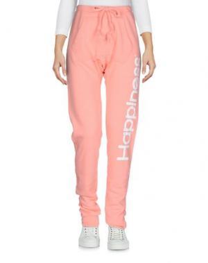 Повседневные брюки HAPPINESS. Цвет: лососево-розовый