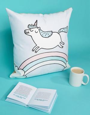 OHH DEER Подушка с надписью Unicorn. Цвет: мульти