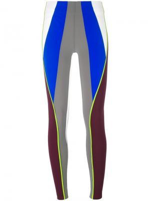 Леггинсы с неоновой деталью No Ka Oi Ka'. Цвет: многоцветный