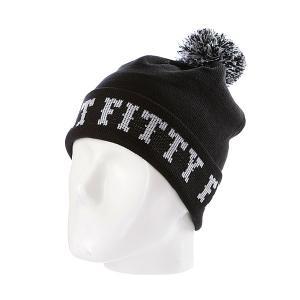 Шапка с помпоном  Ftfy Black Flat Fitty. Цвет: черный