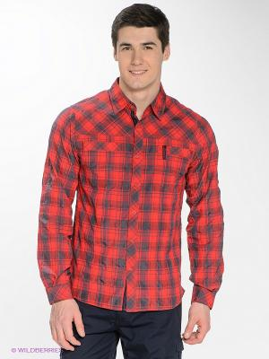 Рубашка Bergans. Цвет: красный, синий