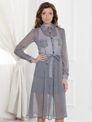 Платье MELANY. Цвет: черный, серый