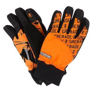 Перчатки сноубордические  Huey Orange Grenade. Цвет: оранжевый,черный