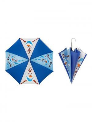 Зонт детский, Холодное сердце Disney. Цвет: синий, белый, голубой