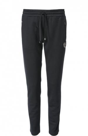 Хлопковые джоггеры с карманами Dolce & Gabbana. Цвет: темно-синий