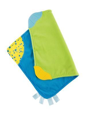 Платочек-прорезыватель SOFT PLEASURE Happy Baby. Цвет: синий, зеленый