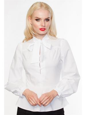 Блуза VICTORIA VEISBRUT. Цвет: белый