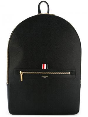 Рюкзак с карманом на молнии Thom Browne. Цвет: чёрный