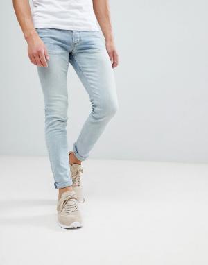 River Island Светло-голубые джинсы скинни. Цвет: синий