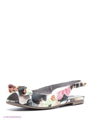 Босоножки INARIO. Цвет: розовый, темно-серый, оранжевый