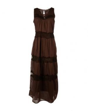 Длинное платье VERDISSIMA. Цвет: темно-коричневый